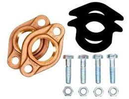"2"", Lead-Free, Bronze, Oval, Threaded, Flange Kit for Water Meter"