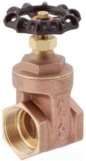 "2"" Brass Full Port Solid Wedge Gate Valve - Handwheel, FPT, 200 psi WOG, 125 psi SWP"