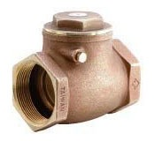 "1-1/2"" Cast Brass Swing Check Valve - FPT, 200 psi WOG, 125 psi SWP"