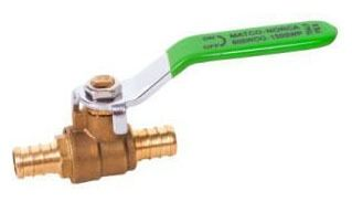 "3/4"" Forged Brass Full Port Ball Valve - 1/4 Turn Lever Handle, PEX, 150 psi SWP, 600 psi WOG"