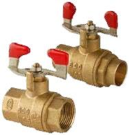 """1"""" Forged Brass Full Port Ball Valve - T-Handle, FPT, 600 psi CWP, 150 psi SWP"""