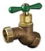 """1/2"""" Brass Low Pressure Hose Bibb - FPT x MHT, 125 psi"""