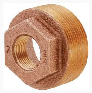 "1/2"" X 3/8"" Cast Brass Import Inside Hex Head Bushing"
