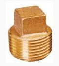 "1-1/2"" Brass Import Square Head Plug"