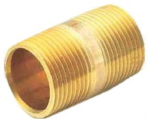"3/4"" X Close"" Red Brass Pre-Cut Close Nipple"
