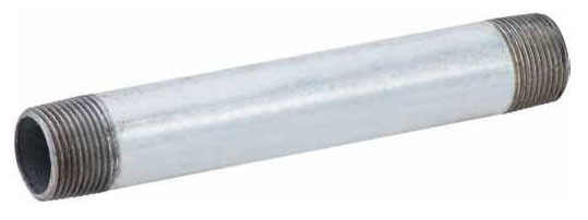 "1"" x 4"" Galvanized Welded Steel Right / Left Nipple - SCH 40, MPT"