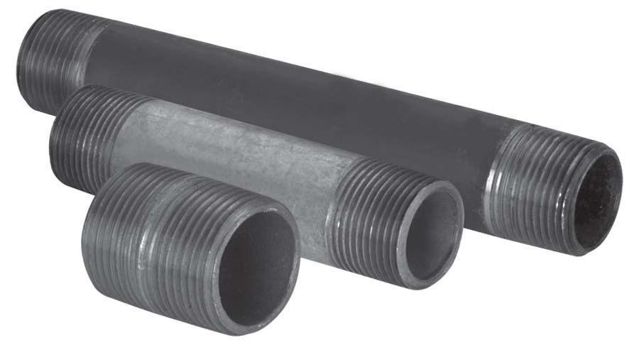 "3/4"" Black Steel Nipple Assortment - SCH 40, MPT, 25-Piece"