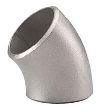 """2"""" Stainless Steel 45D Straight Elbow - SCH 40, Butt Weld, Long Radius"""