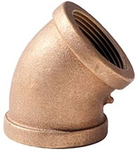 "1/2"" Brass Import 45D Elbow"