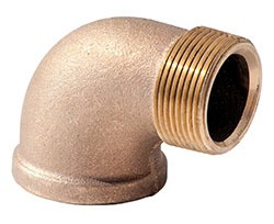 "1-1/2"" Brass Domestic Street 90D Elbow"