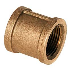 "1/2"" Brass Straight Coupling - FPT, 125 psi"