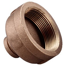 "1-1/2"" x 1"" Brass Reducing Coupling - FPT, 125 psi"