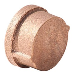 "1-1/2"" Brass Round Head Cap - NPT, 125 psi, Import"