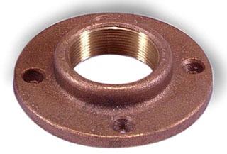 """3/4"""" Brass Threaded Floor Flange - 125 psi"""