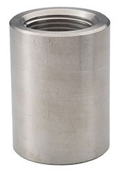 """2"""" Stainless Steel Straight Coupling - FPT, 3000 psi, 316/316L Forged Stainless"""