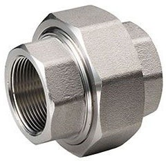 """1/2"""" Stainless Steel Straight Union - FPT"""