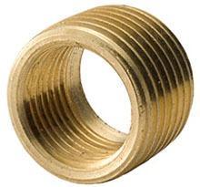 "3/4"" x 1/2"" Yellow Brass Reducing Bushing - MPT x FPT, 125 psi"