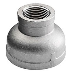 "1-1/2"" X 1-1/4"" Cast 316 Stainless Steel Reducing Coupling"