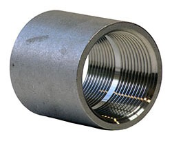 "3"" Stainless Steel Straight Coupling - FPT, 150 psi, 304 Cast Stainless"