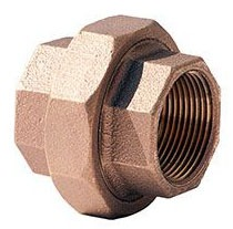 "1/4"" Brass Straight Union - FPT, 125 psi"