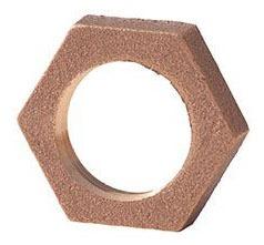 "1/2"" Brass Hex Locknut - Imported, Lead-Free"