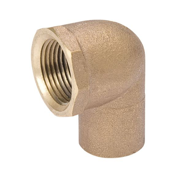 "1/2"" Bronze 90D Straight Elbow - C x FPT"
