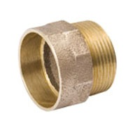 "1-1/4"" Wrot Copper DWV Male Straight Adapter"
