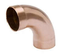 "1-1/2"" Wrot Copper DWV Long Radius 90D Elbow"