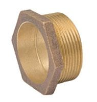 "1-1/2"" Cast Bronze DWV Male Straight Adapter"