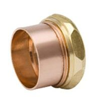 "1-1/2"" Wrot Copper DWV Slip Joint Trap Adapter"