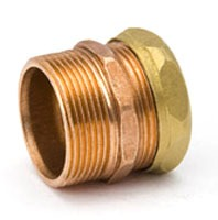 """1-1/2"""" Copper Trap Straight Adapter - MPT x Slip Joint"""