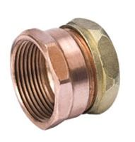 """1-1/2"""" Copper Trap Straight Adapter - FPT x Slip Joint"""