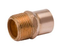 "3/8"" X 1/4"" Wrot Copper Male Reducing Adapter"