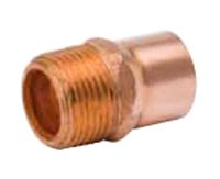 "1/2"" Wrot Copper Female Straight Adapter, Cleaned and Bagged"