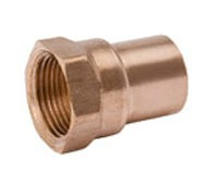 "3/4"" X 1"" Wrot Copper Female Increasing Adapter"