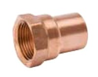 "1/2"" X 1/4"" Wrot Copper Female Reducing Adapter, Cleaned and Bagged"