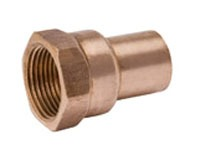 """1-1/4"""" Copper Straight Adapter - FTG x FPT"""