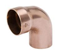 "1-1/2"" Wrot Copper DWV Street 90D Elbow"