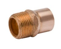"1/2"" X 3/4"" Wrot Copper Male Increasing Adapter"