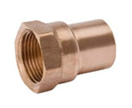 "1/2"" X 3/4"" Wrot Copper Female Increasing Adapter"