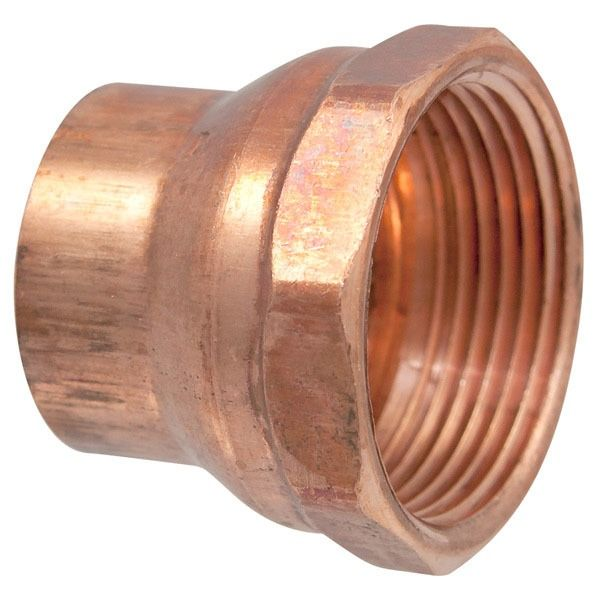 """1-1/4"""" Copper DWV Straight Adapter - FTG x FPT"""