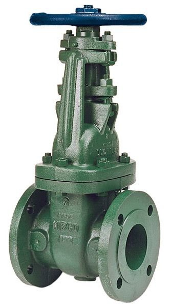 """4"""" Ductile Iron Solid Wedge Gate Valve - Handwheel, Flanged, 150 psi SWP, 250 psi CWP"""