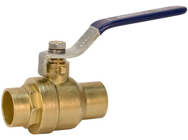 "1/2"" Forged Brass Full Port Ball Valve - 1/4 Turn Lever Handle, C, 600 psi CWP"