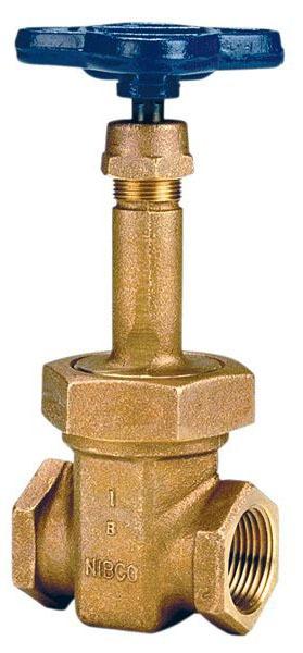 """1"""" DZR Bronze Solid Wedge Gate Valve - Handwheel, FPT, 125 psi SWP, 200 psi CWP"""