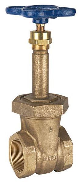 """1"""" DZR Bronze Solid Wedge Gate Valve - Handwheel, FPT, 150 psi SWP, 300 psi CWP"""