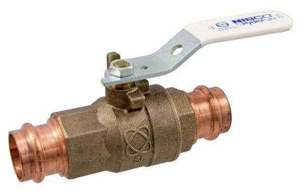 "1"" PC585-66-LF Press Ball Valve, DZR Silicon Bronze"