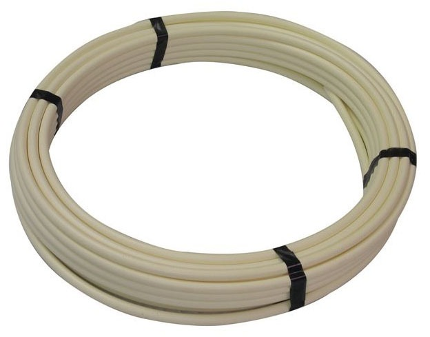 "3/8"" x 100' White Cross-Linked Polyethylene Tubing"
