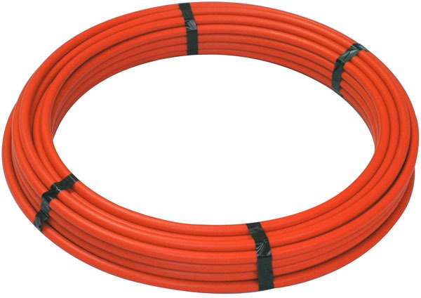 "1"" x 100' Orange Cross-Linked Polyethylene Tubing"