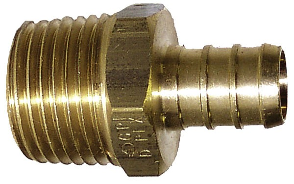 "1"" Bronze Male Straight Adapter - PEX x MPT"