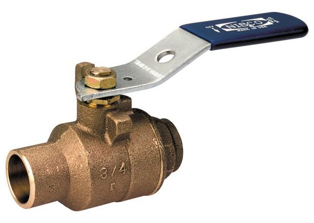 "2-1/2"" S-580-70-66 Soldered Ball Valve, DZR Bronze"